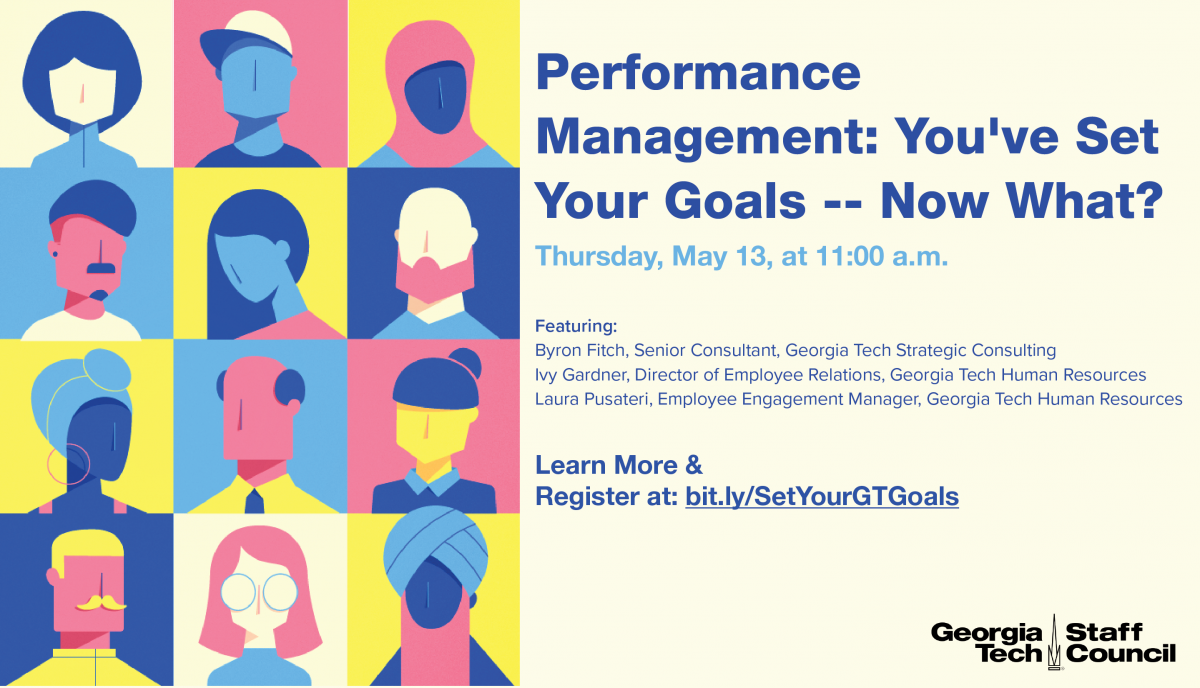 "Flyer advertising ""Performance Management: You've met your goals, now what?"""